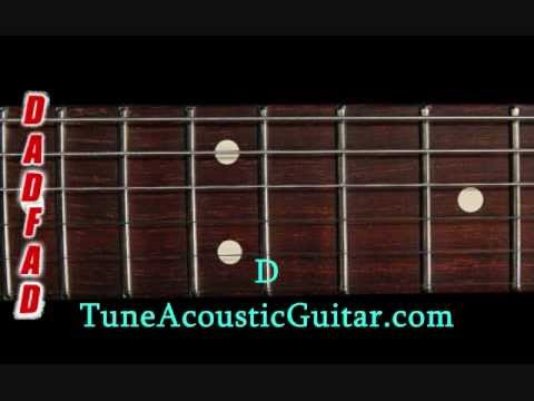 Open D Tuning - Open D Minor Online Guitar Tuner