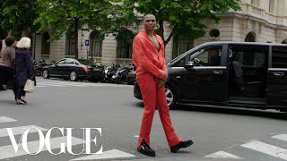 Inside Russell Westbrook's Pregame for the Louis Vuitton Men's Show in Paris | Vogue