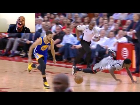 STEPHEN CURRY SHOVES BEVERLEY TO THE FLOOR!!! DRAYMOND GREEN GETS INJURED & GOES TO THE LOCKER ROOM!