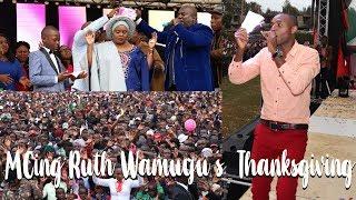 Jeff Kuria  MCing Ruth Wamuyu's 25th Anniversary in Music