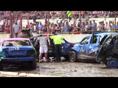 Dodge County Beaver Dam Demo Derby 08/19/2018 event 1 Compact heat