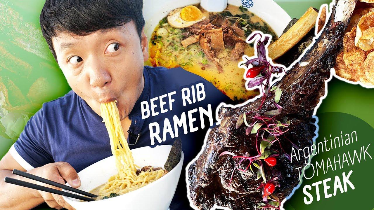 BEEF RIB RAMEN, JAMAICAN FOOD & Argentinian TOMAHAWK STEAK in Miami Florida