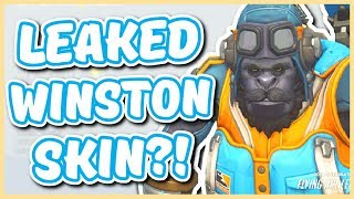 Overwatch - LEAKED LONDON SPITFIRE WINSTON SKIN?!