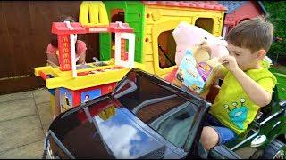 McDonald's Drive Thru Kids Pretend Play with Kitchen Toy Playset