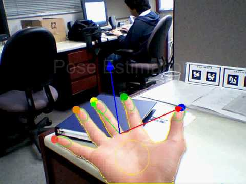a real time tracker for markerless augmented Pose estimation for a markerless ar system  view of a real scene is augmented with additional virtual  we present an approach for robust real-time face tracking.