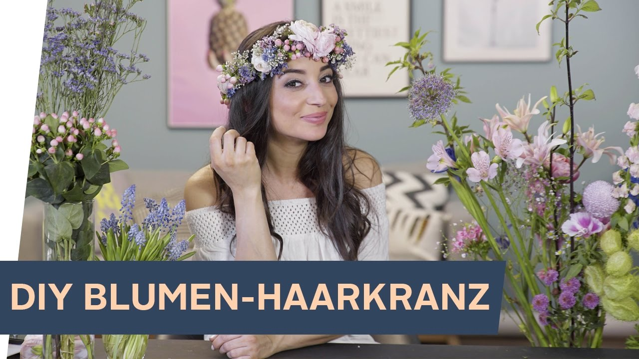 blumenkranz selber machen diy haarkranz aus echten blumen refashion i otto youtube. Black Bedroom Furniture Sets. Home Design Ideas