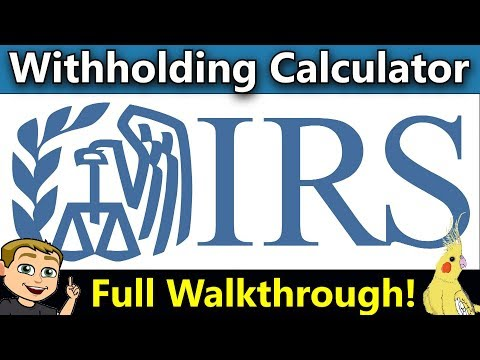 Tax Withholdings Calculator (IRS Tax Withholdings Calculator 2018) Complete Walk Through!