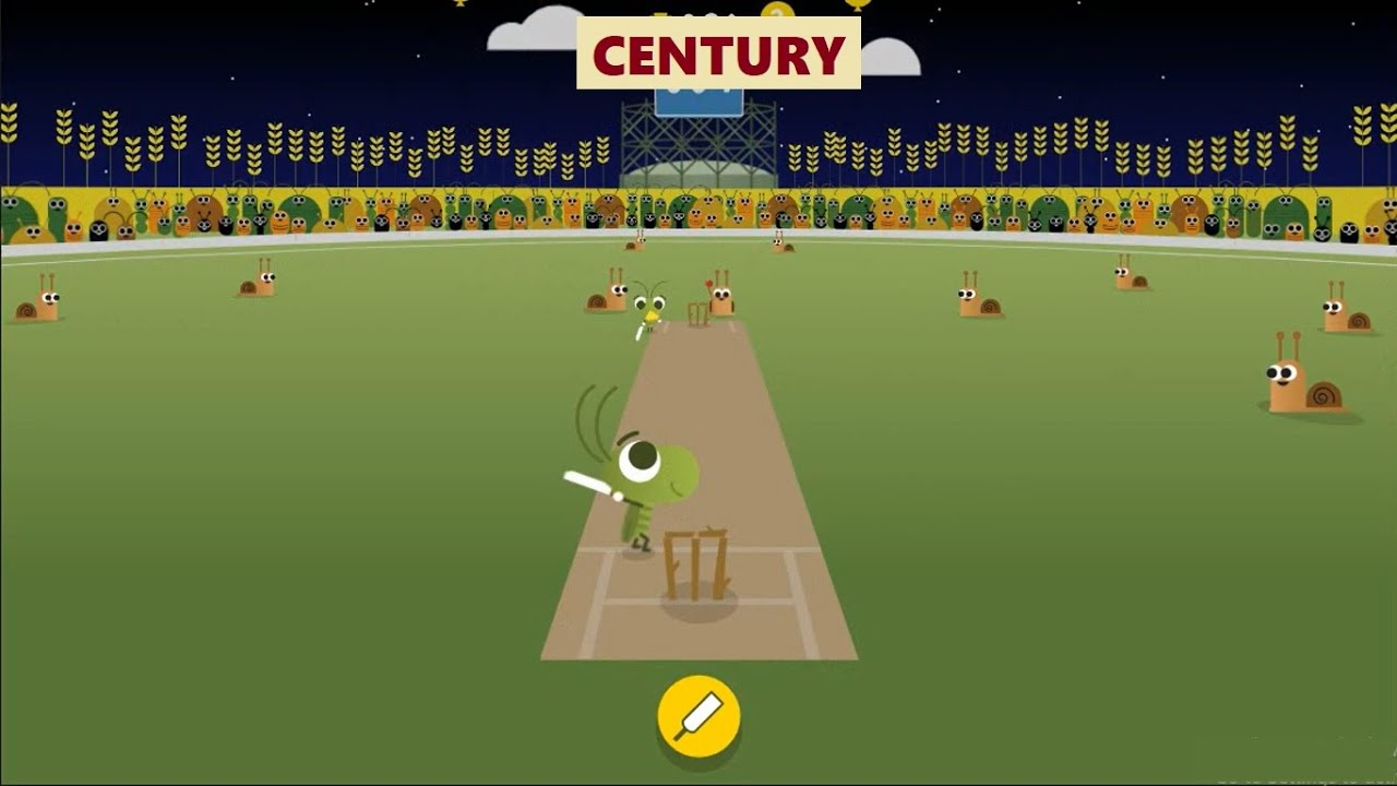 I Scored 111 In Google Doodle Cricket Game What S Your Best Score Youtube