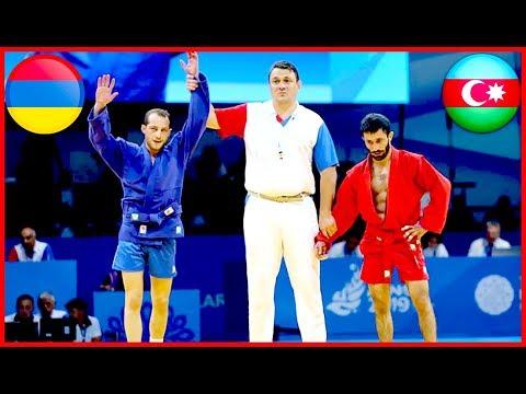 Армянский самбист Тигран Киракосян одержал победу над азербайджанцем (Чемпионат Европы)