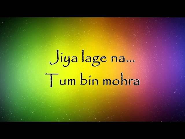Jiya Lage Na - Talaash Lyrics HD