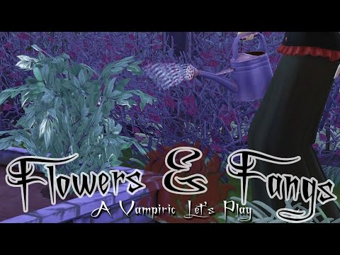 A Growing Graveyard Garden • Flowers & Fangs: Sims 4 Vampires - Episode #9