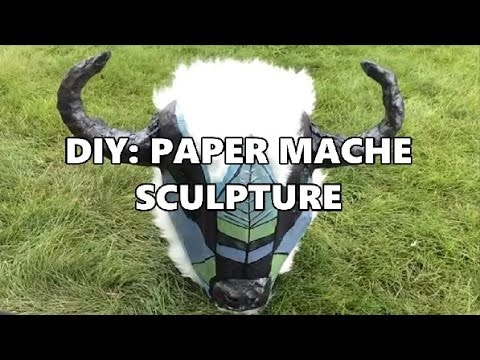 DIY SCULPTURE | CHICKEN WIRE AND PAPER MACHE