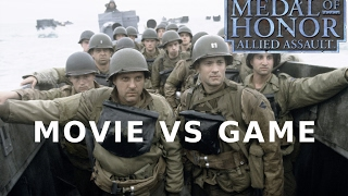 Movie VS Game, Saving private Ryan VS Medal of honor allied assault, Omaha beach scene