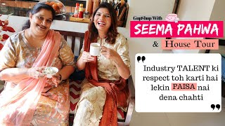 Interview With Seema Pahwa & Her House Tour:  Less Pay Check, Gaining Weight & Redefining Roles