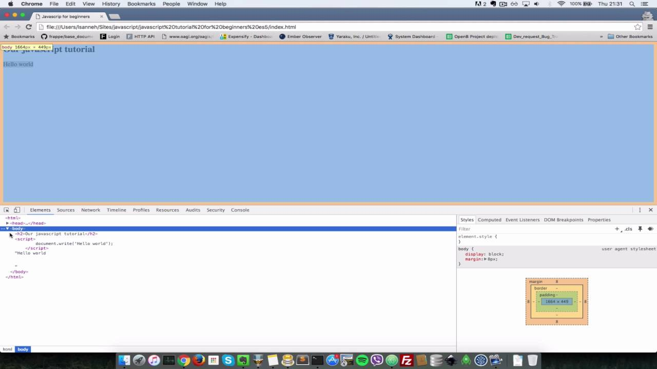Javascript Tutorial for Absolute Beginners 1 - Setup environment and hello world