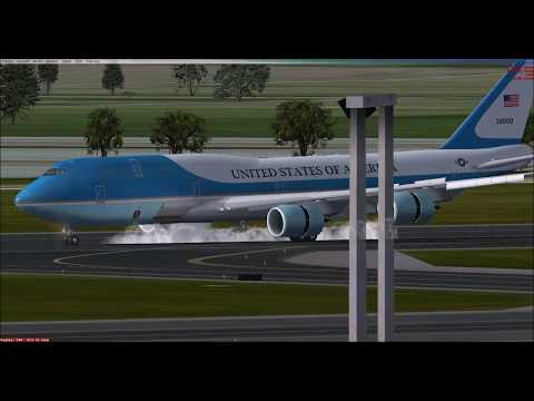 Air Force One landing in Rome!