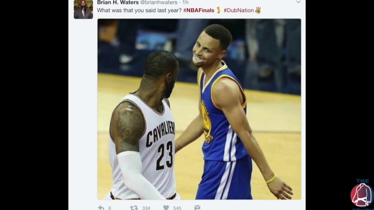 Top memes and reactions from 2017 NBA finals game 3 featuring KD, James, Curry, and JR - YouTube