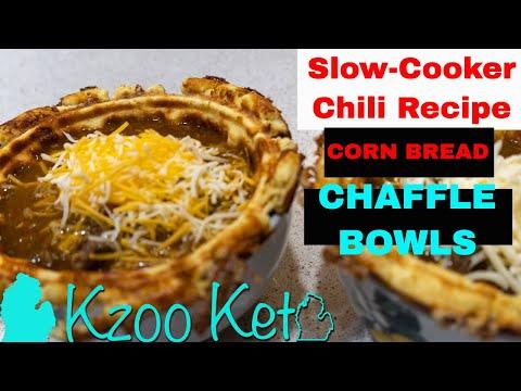 cornbread-chaffle-bowls-&-slow-cooker-keto-chili-recipes
