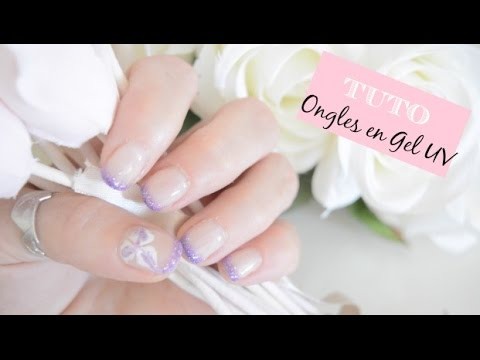 tuto pose ongles gel uv french paillet e couleur toute seule youtube. Black Bedroom Furniture Sets. Home Design Ideas