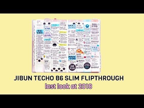 Jibun Techo B6 Slim - Last 2018 Flipthrough