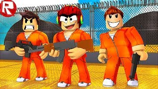 A DANGEROUS ESCAPE FROM PRISON REAL LIFE in ROBLOKS SIMULATOR ROBLOX VIDEO GAMES for CHILDREN