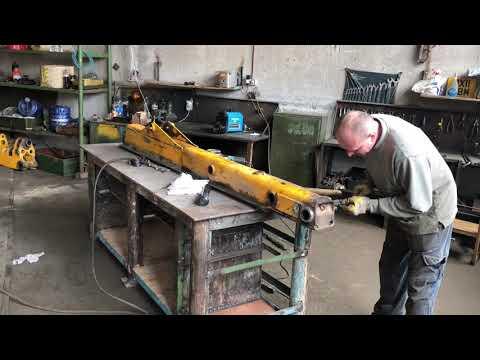 Ремонт стрелы JCB 3 CX Расточка наплавка запрессовка втулок
