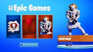 """Free """"ES 2"""" items in Fortnite! (PENNYWISE SKIN)"""