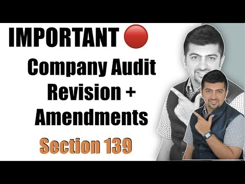 IMPORTANT CA IPCC  CA Inter Audit May 2018   Company Audit Revision Section 139 Plus Amendments