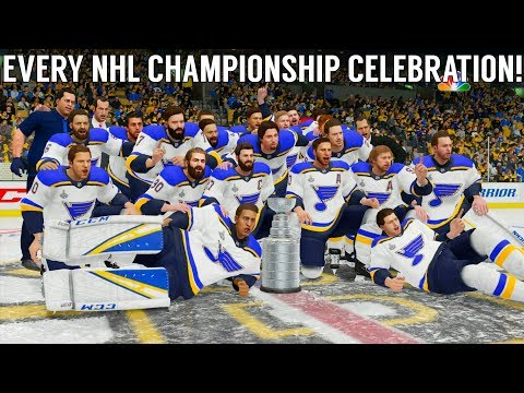 Every EA Sports NHL Stanley Cup Finals Championship Celebration! (NHL Hockey - NHL 19)