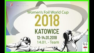 2018 Women's Foil Team World Cup Katowice Piste Green