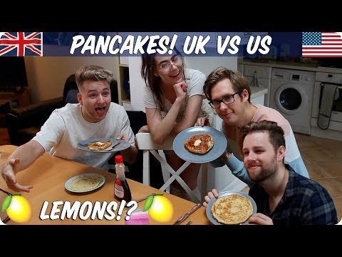 Pancakes! British VS American for Shrove Tuesday
