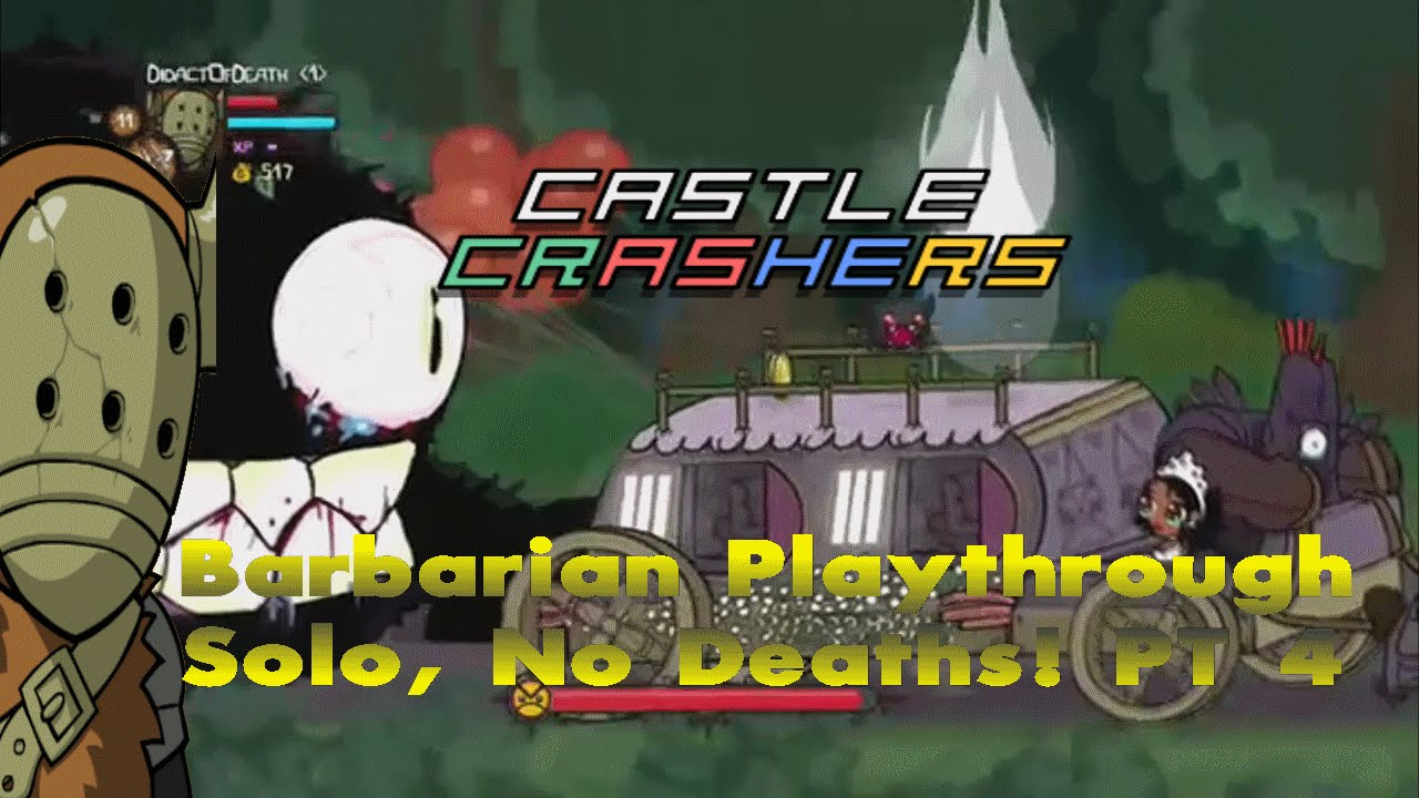 Castle Crashers Remastered Solo, 0 Deaths & Live Twitch Stream  (Part 4)