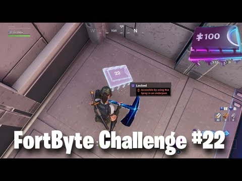 Fortnite FortByte Challenge 22 Guide | Rox Spray In Underpass (Fortnite Battle Royale)