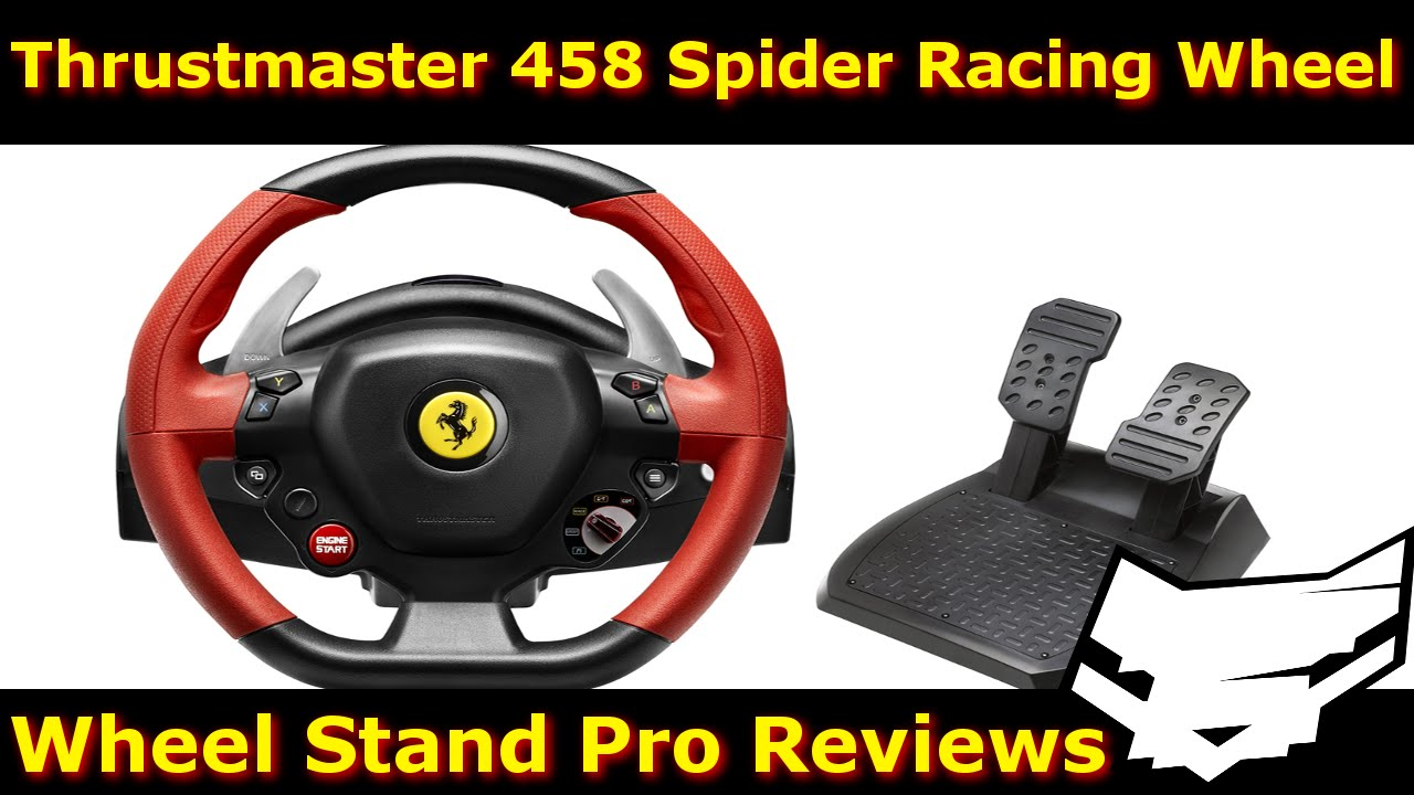 thrustmaster ferrari 458 spider wheel with wheel stand pro. Black Bedroom Furniture Sets. Home Design Ideas