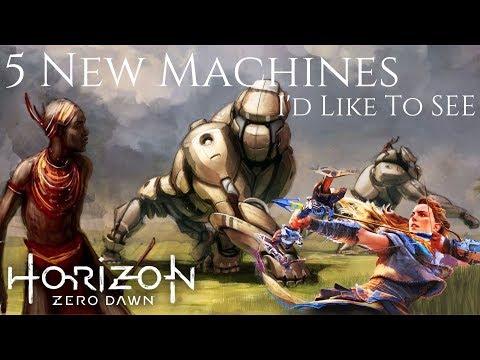 Horizon Zero Dawn - 5 New Machines I'd Like To See ( Spider Machines & More )