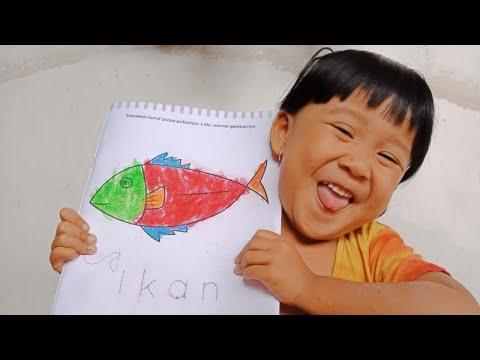 Keseruan Anggel Mewarnai Gambar Ikan Tongkol Youtube