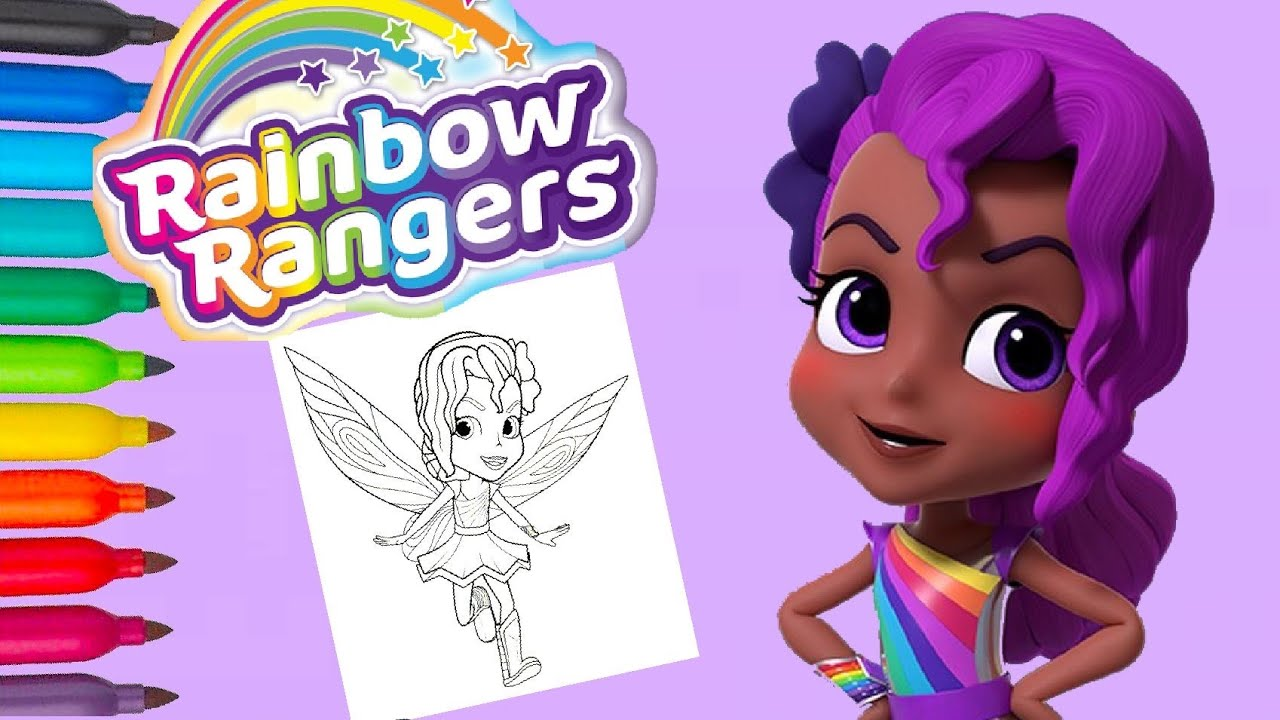 Rainbow Rangers Lavender Laviolette Coloring Pages And Nursery Rhymes Beautiful Girl Batterfly Youtube