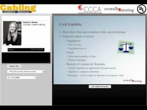 Webcast (Part 2): Non-compliant Communications Cable