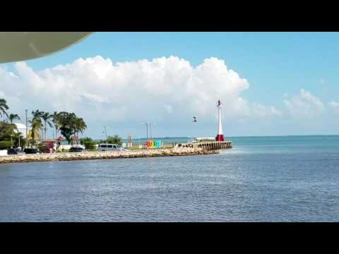 Pulling into Belize City on the water taxi