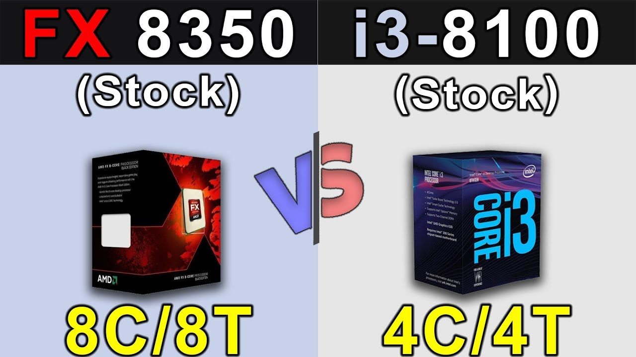 Fx 8350 Vs I3 8100 New Games Benchmarks Youtube