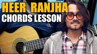 Heer Ranjha ( Bhuvam Bam ) Easy Guitar Chords Lesson and Cover  | Bhuvan Bam Official Video