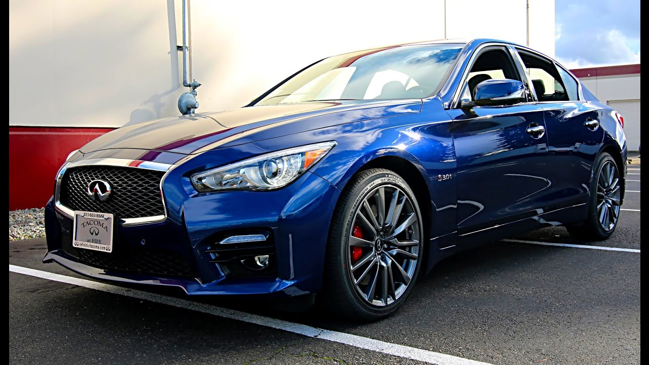 2017 Infiniti Q50 Red Sport 400 In Iridium Blue And New Design Package You