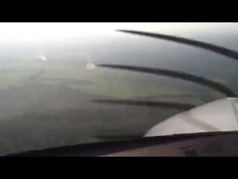 PC-12 Landing Obo Central African Republic
