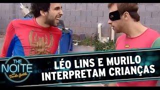 The Noite (13/10/14) - Léo Lins e Murilo interpretam crianças porque é divertido