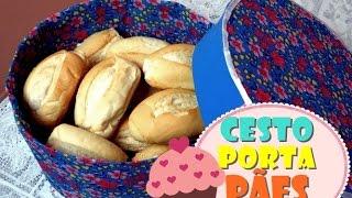 Cesto porta pães feito de papelão e EVA