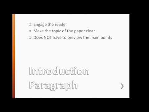 Intro paragraph research