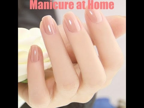 Salon style manicure at home | How to do manicure at home in hindi