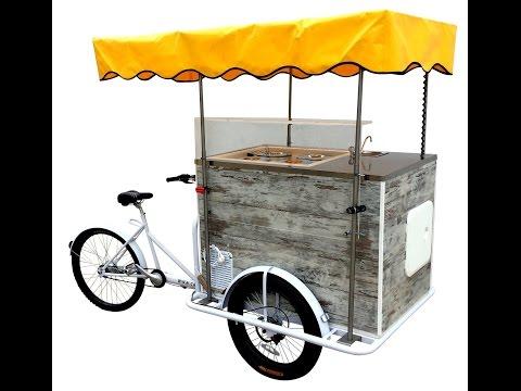 Carretto Gelati Vintage a Batteria su Triciclo Cargo Bike