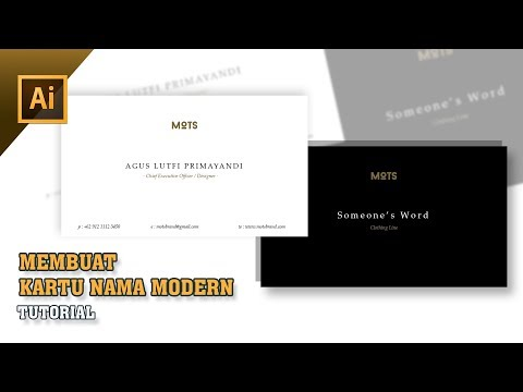 Adobe Illustrator Tutorial Indonesia : Membuat Kartu Nama Modern thumbnail