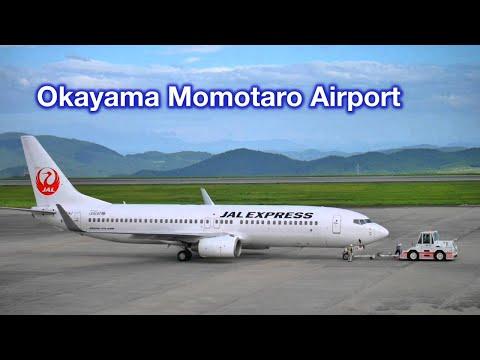 JAL B737-800, Taxing & Take-off in Okayama Airport - 岡山空港 日本航空240便
